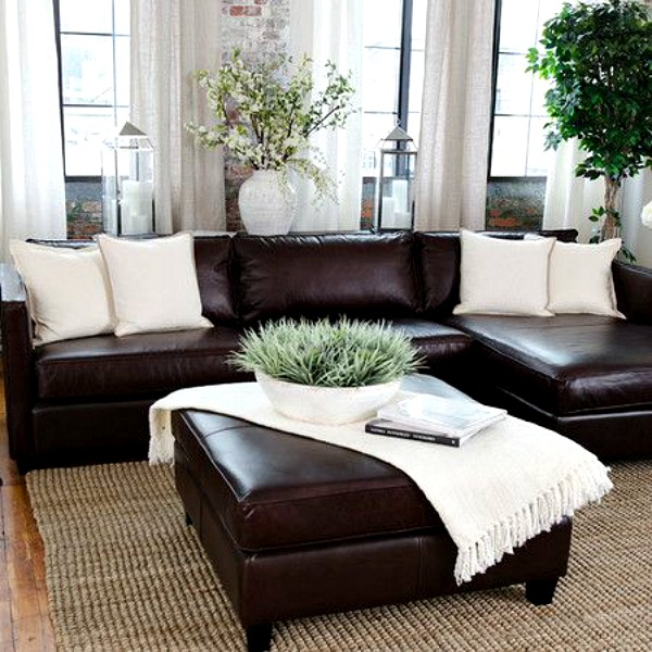 decorating with leather furniture cozy little house