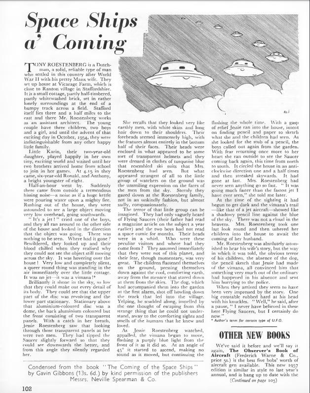 Blue Blurry Lines: Jessie Roestenburg's 1954 UFO Encounter and Beyond