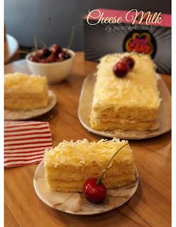 cake kekinian yang buat tebayang ya pekanbaru justcake, keju susu, enak, lumer di lidah