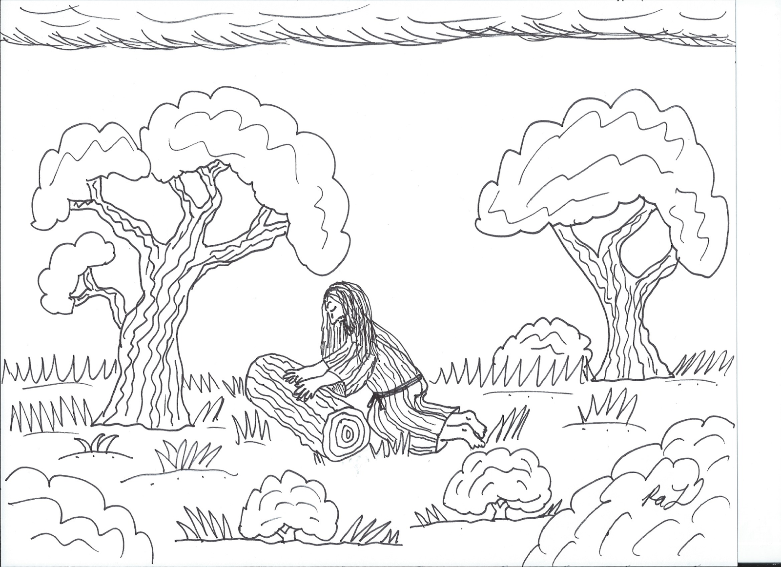 gethsemane coloring pages - photo#23