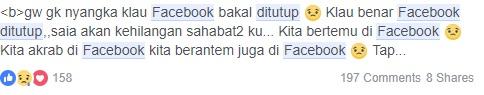 gambar 1 status lucu facebook ditutup