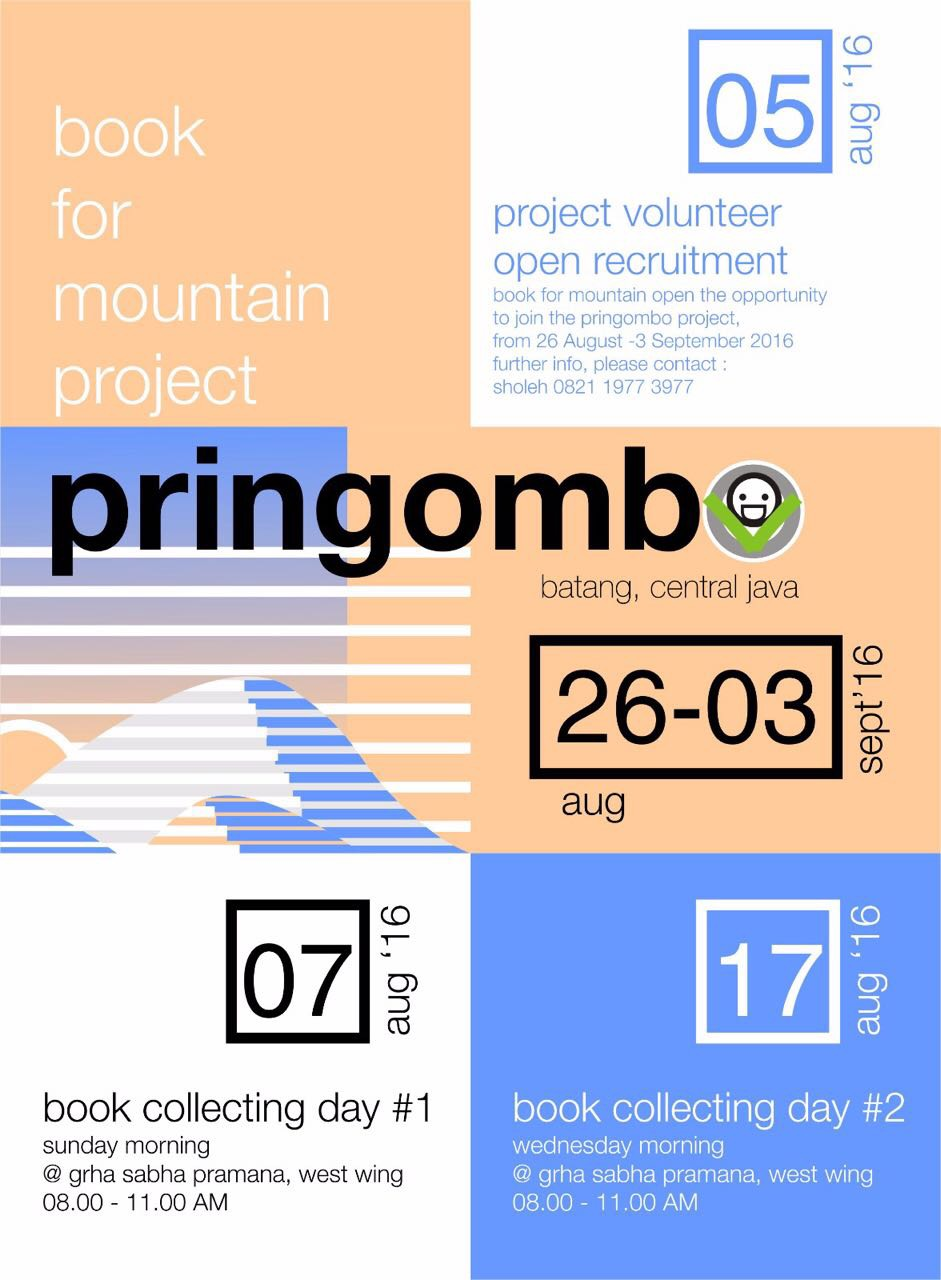 Book for Mountain Project Perpustakaan Pringombo Ngadirejo Reban Batang Jawa Tengah