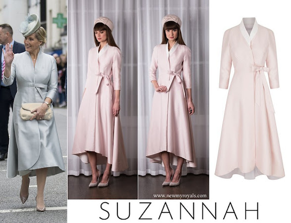 Countess Sophie wore Suzannah the sophie wrap dress coat