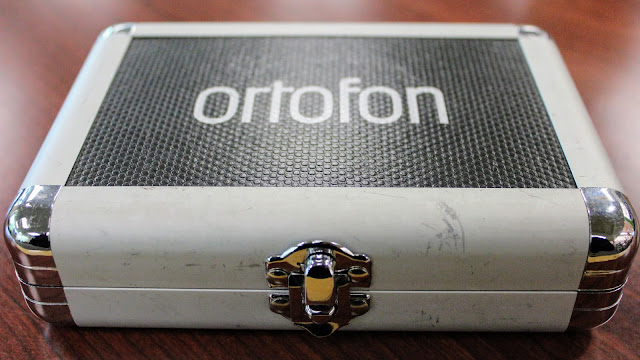 Ortofon Concorde Q.Bert Record Needles - The front of the metal and plastic carrying case.