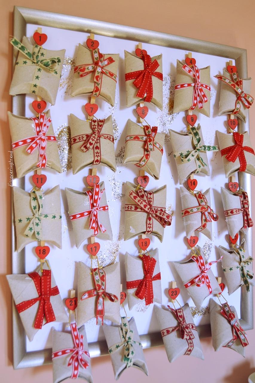Calendario Avvento Con Rotoli Carta Igienica.Christmas Diy Calendario Dell Avvento Fai Da Te