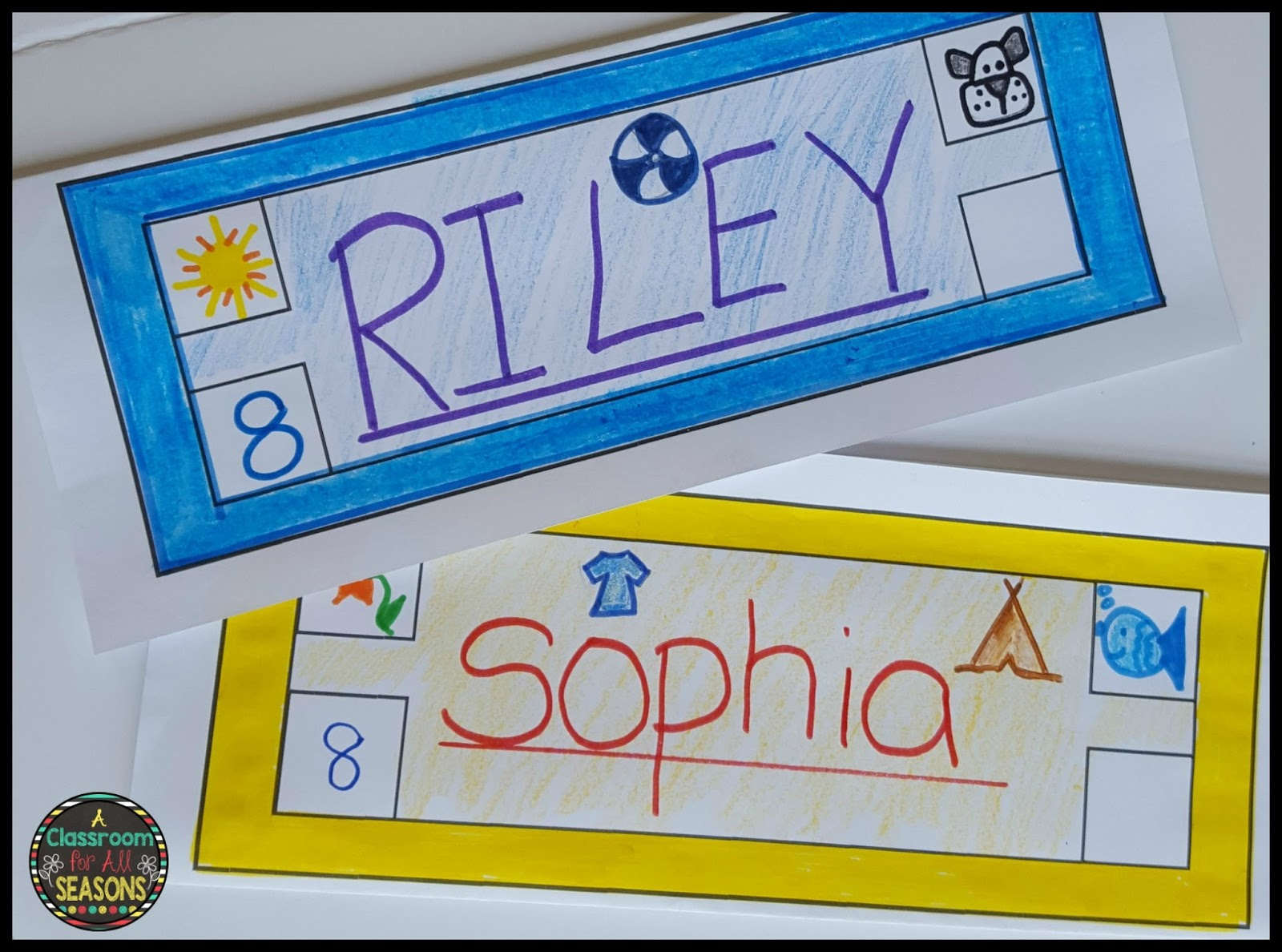 Back to School Name Tag Glyph - Classroom Freebies