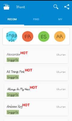 Dоwnlоаd aplikasi iFоnt