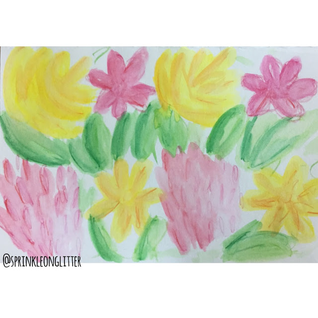 Sprinkle On Glitter Blog// one flower-three ways// watercolor pencil