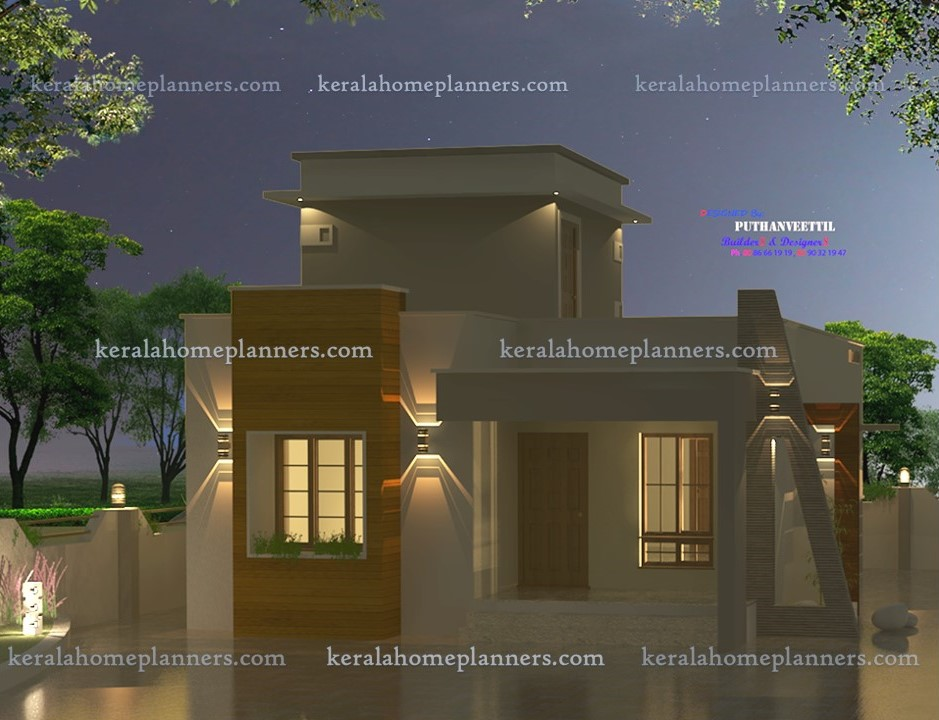 Low Cost 2 Bhk Indian House Design For 971 Sqft: Indian Style Low Cost 2 Bedroom Home For 14 Lakhs In 980