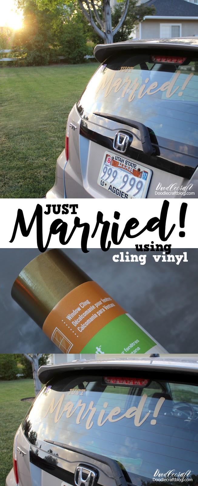 Doodlecraft Cricut Explore Air 2 Just Married Cling Vinyl