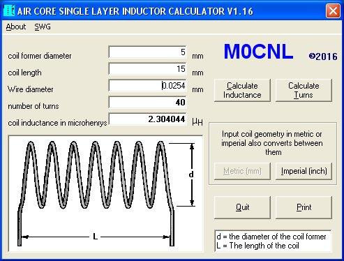 M0cnl Air Cored Inductor Calculator V1 16