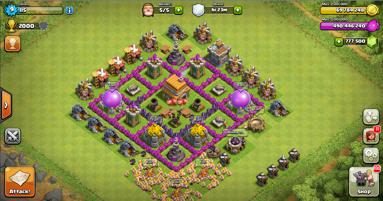 Thropy Base Clash Of Clans TH 6 - Design Base Clash Of ...