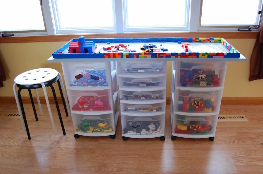 cómo organizar piezas de lego