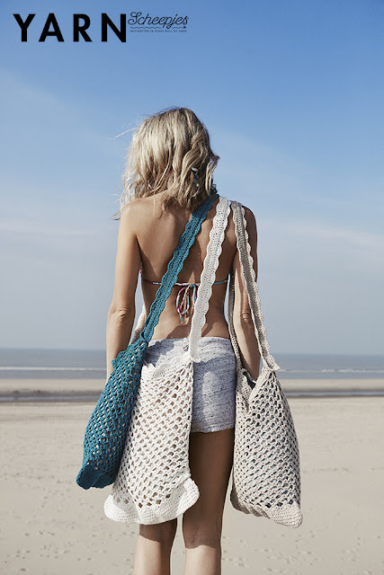 Crochet Beach Bag Crochet Pattern, Yarn the Sea Edition (photo by: Scheepjes)