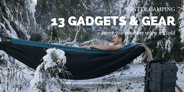gadgets and gear for camping in winter - 13 items.