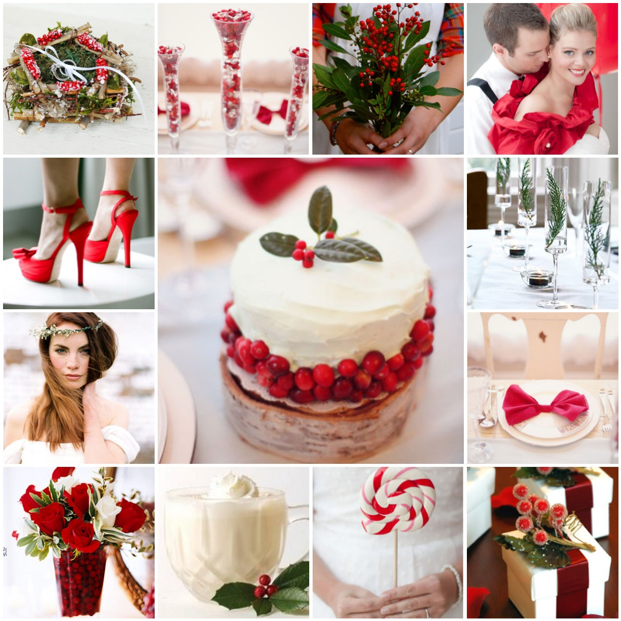 Christmas Wedding Theme Ideas: Cranberries And Holly – A Christmas Wedding