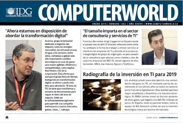 REVISTA DIGITAL COMPUTERWORLD DE IDG COMMUNICATIONS. ENERO 2019.