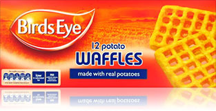 Potato waffles birds eye
