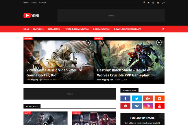 Video - Blogger Template