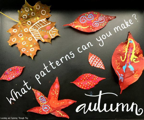 Autumn Leaf Patterns with Chalk