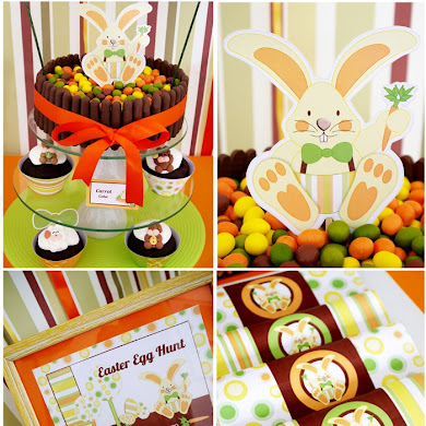 Easter Bunny Party | A Full-On Chocolate Desserts Table