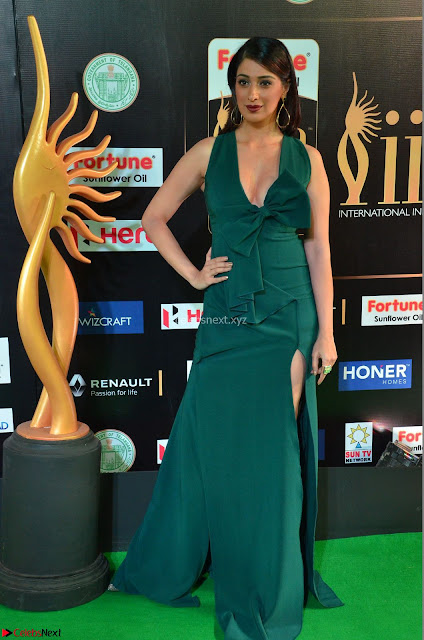 Laxmi Rai in a Deep neck Beautiful Green Gown Cute Actress Laxmi Rai ~  001.JPG
