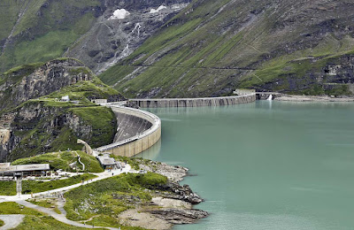 Upper reservoir in Kaprun