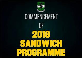 UNN Sandwich Programme Academic Calendar Schedule - 2018