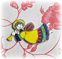 image shrinky dink christmas ornament angel