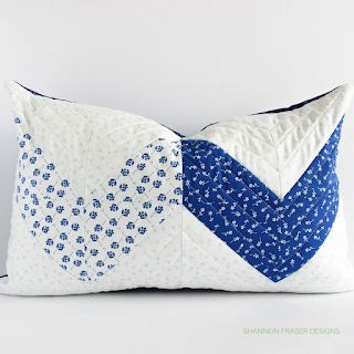 Double Chevron Quilted Lumbar Pillow | Shannon Fraser Designs