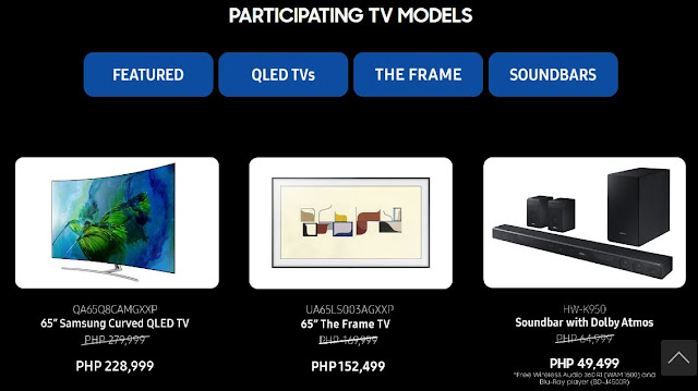 Exclusive discounts on Samsung QLED TVs and Soundbars