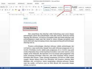 Daftar Isi : Cara Membuat Daftar Isi Otomatis di Word Terbaru