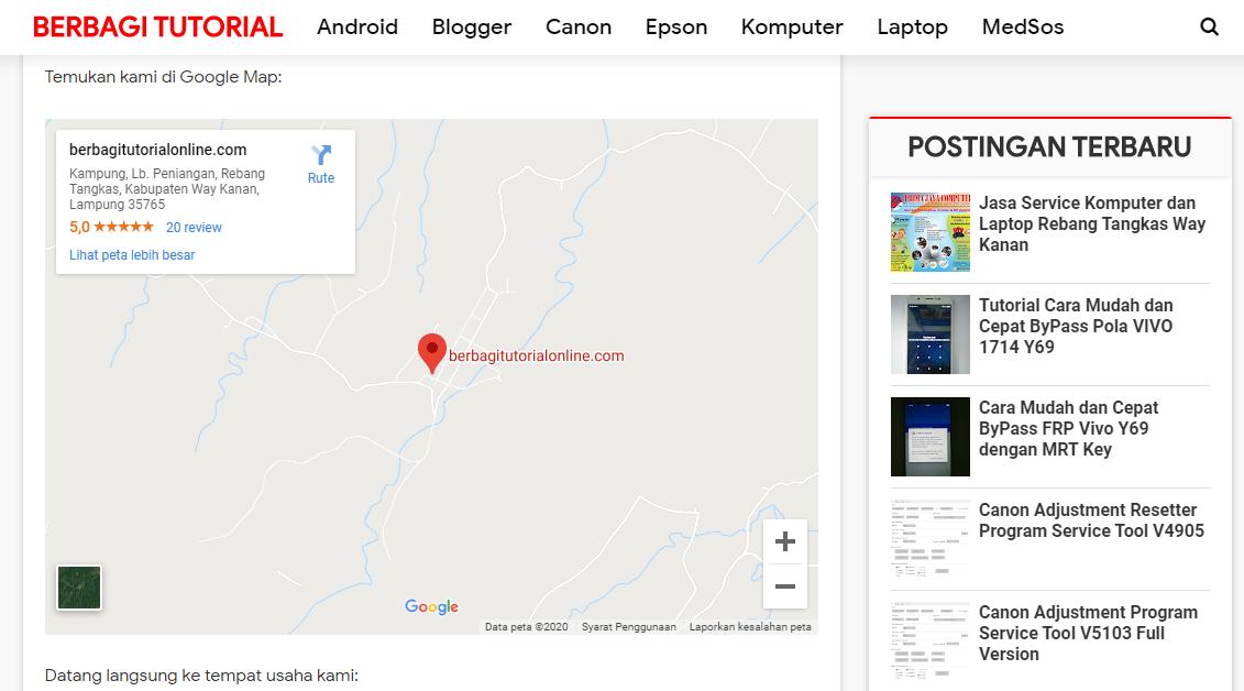 Cara Menampilkan Peta Lokasi Google Maps Blog