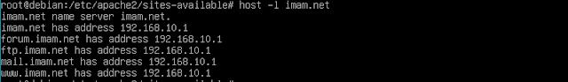 Tampilan Test Host imam.net