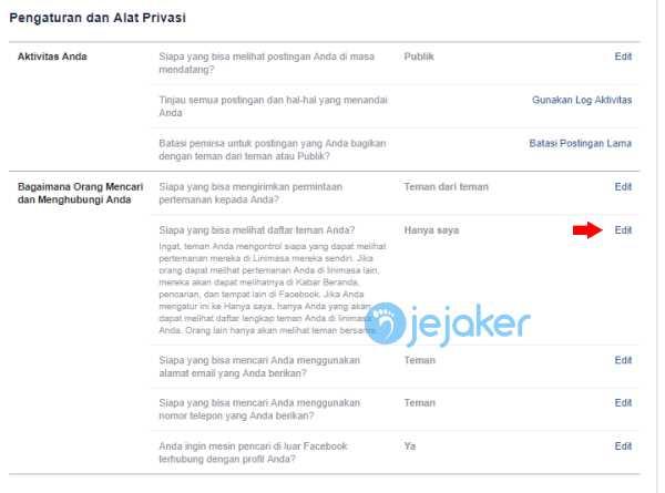 Cara Menyembunyikan Daftar Teman Facebook Lewat Computer