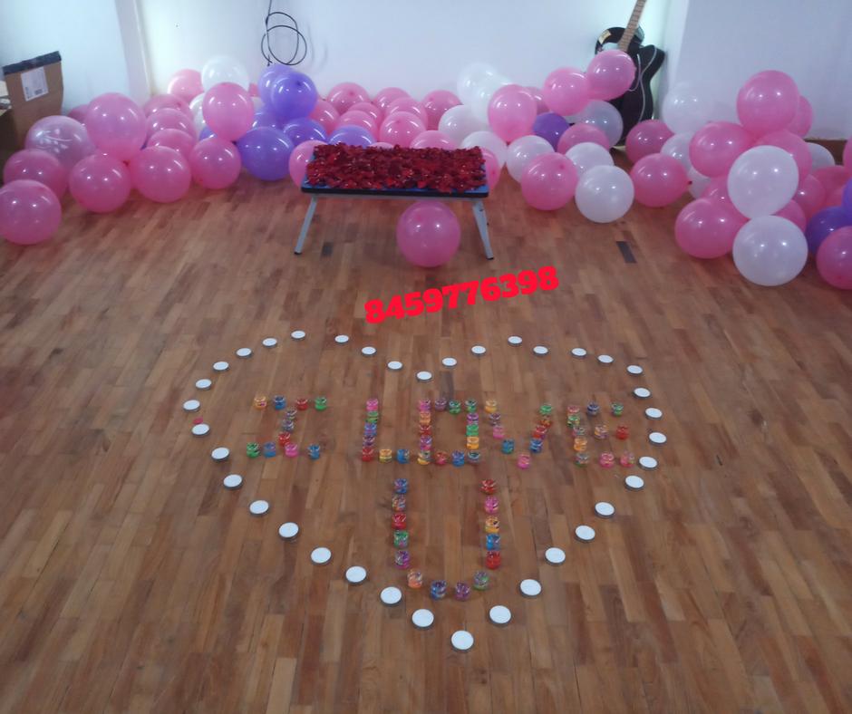 Romantic Room Decoration For Surprise Birthday Party In Pune Romantic Room Decoration In Pune Surprise Party Decorations