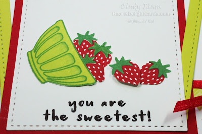 Heart's Delight Cards, Fruit Basket, Strawberries, Thanks, Occasions 2018, Stampin' Up!