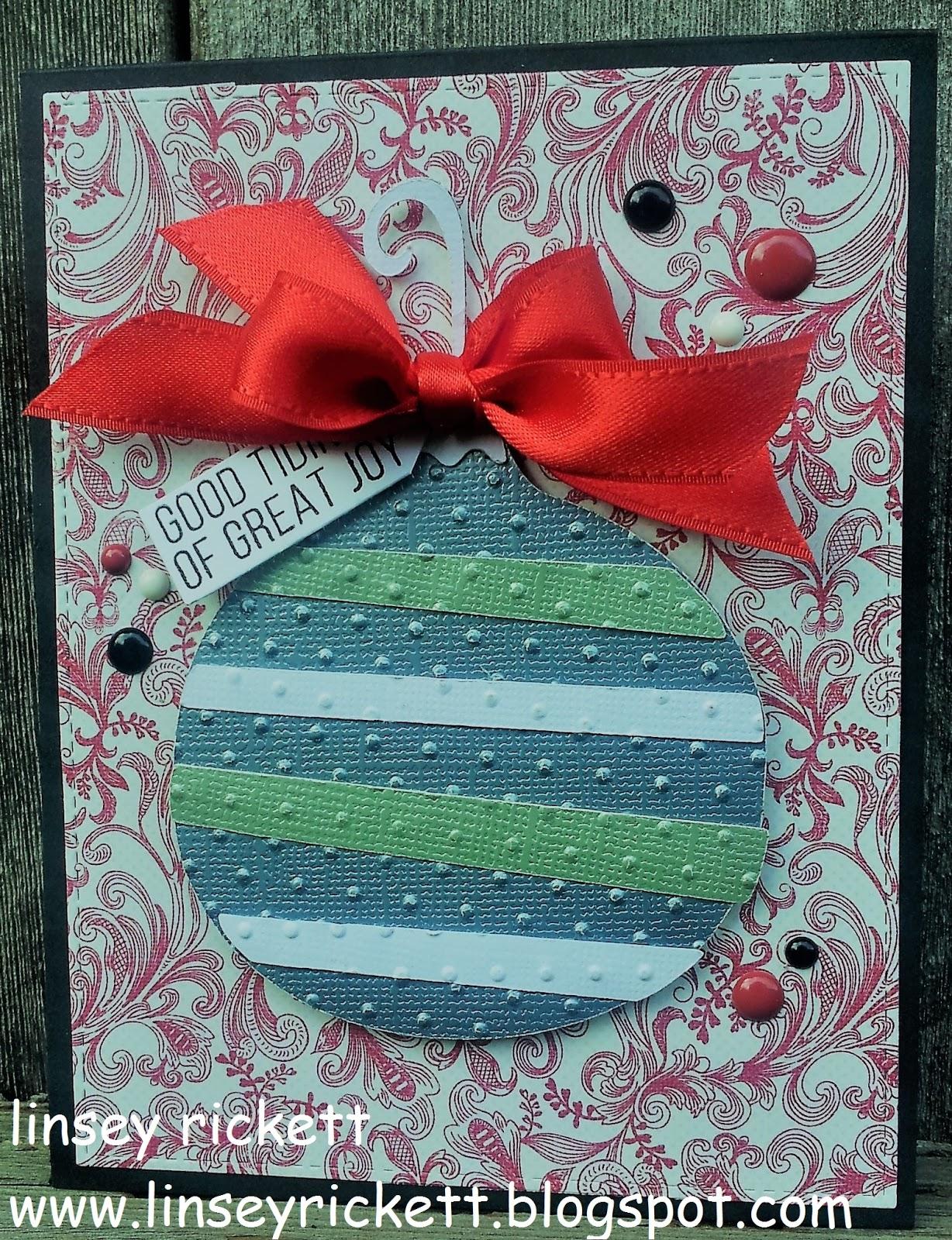 Really Reasonable Ribbon Blog Ornament Christmas Cards With