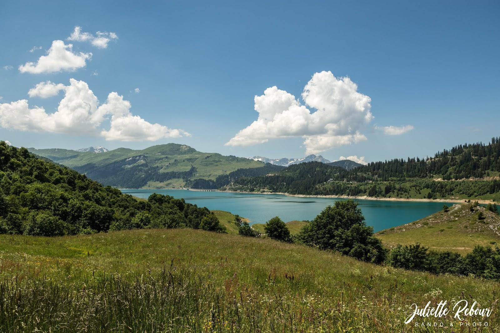 Lac de Roselend, été