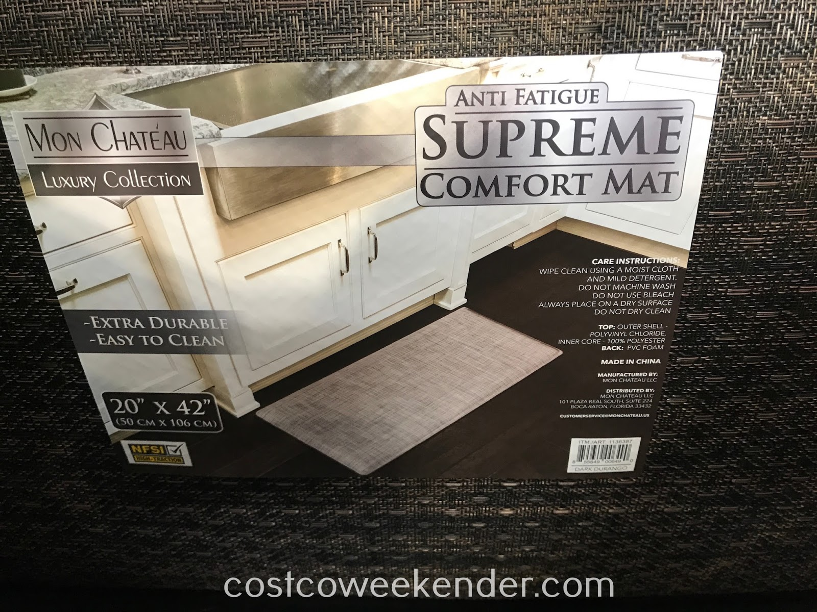 Costco 1136387 - Mon Chateau Anti Fatigue Supreme Comfort Mat: looks just as good as it is functional