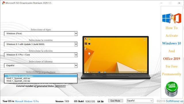 Microsoft ISO Downloader Premium 2020 Descargar