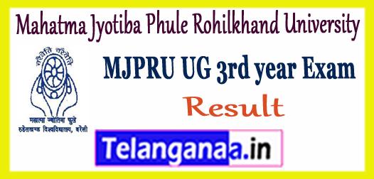 MJPRU Mahatma Jyotiba Phule Rohilkhand University UG 3rd Final Year Result 2018