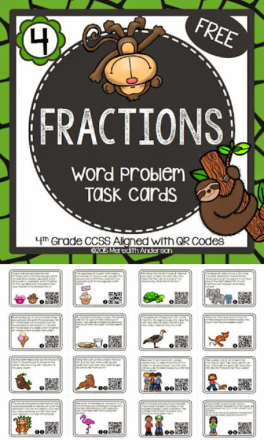https://www.teacherspayteachers.com/Product/Fractions-Word-Problem-Task-Cards-FREEBIE-1786855