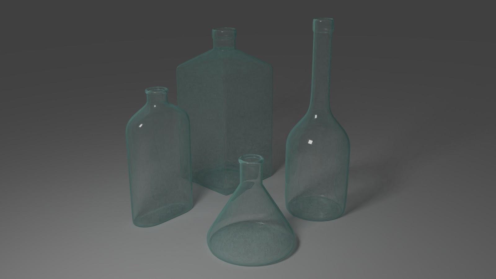 Free 3D Bottles .blend file