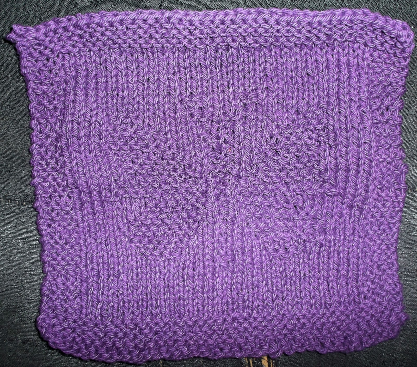 QuestingWisdom: Knit Project: Butterfly Dishcloth
