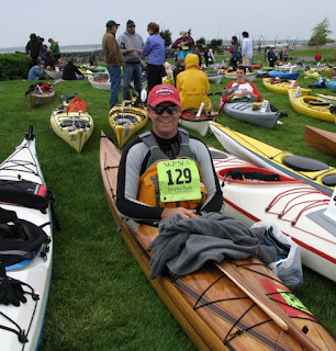 Randy in the 2010 Ski to Sea Race in Bellingham - using a NorthPoint Paddle