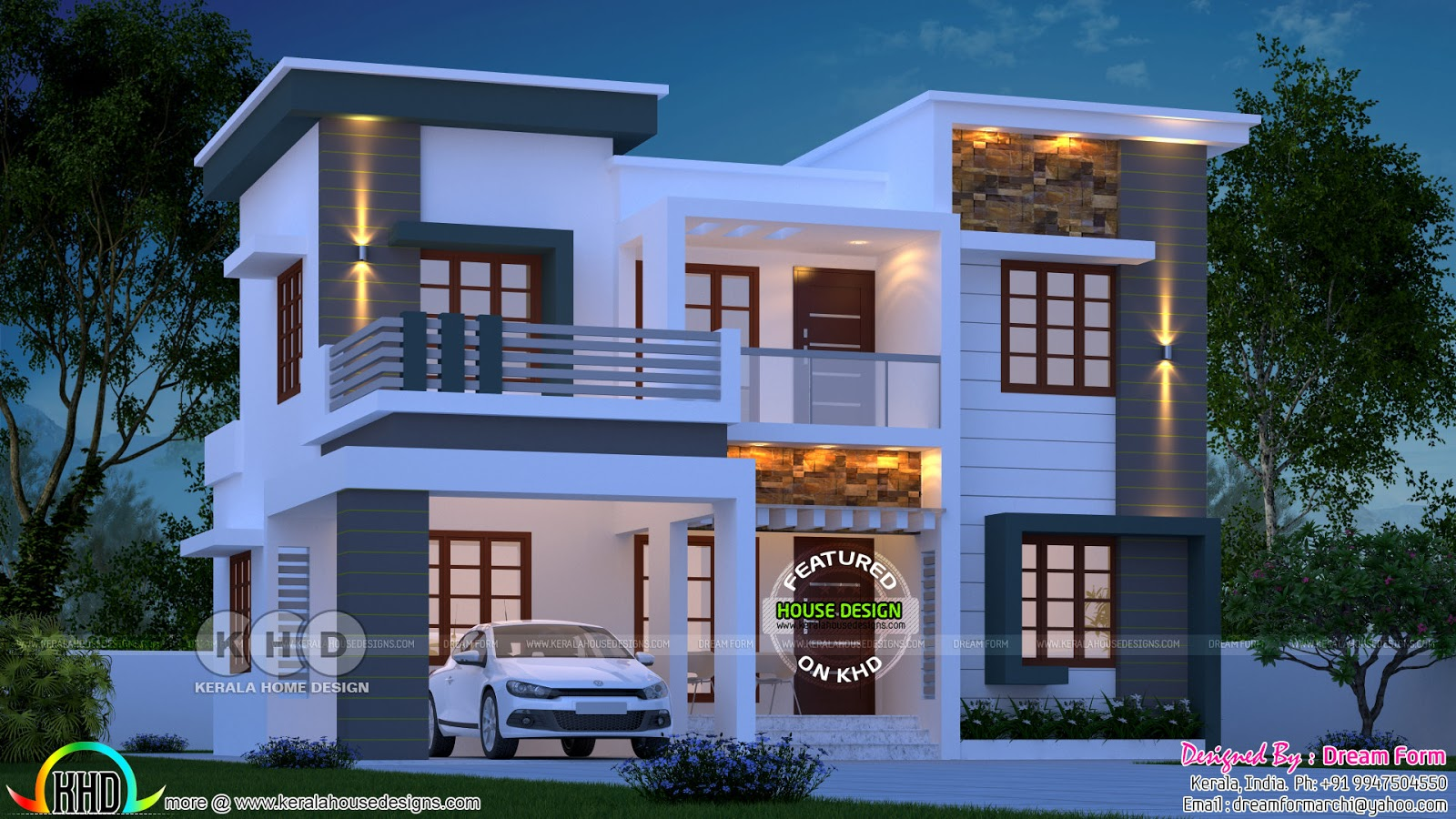 1780 Square Feet 4 Bedroom Modern Home In Kerala Duplex House Design Exterior House Remodel Kerala House Design