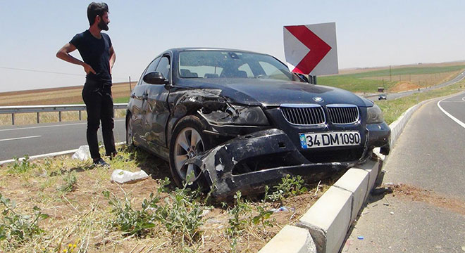 Çınar Göksu Barajı yakınlarında kaza: 1 yaralı