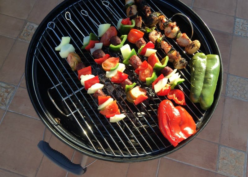 Kebabs on the barbecue