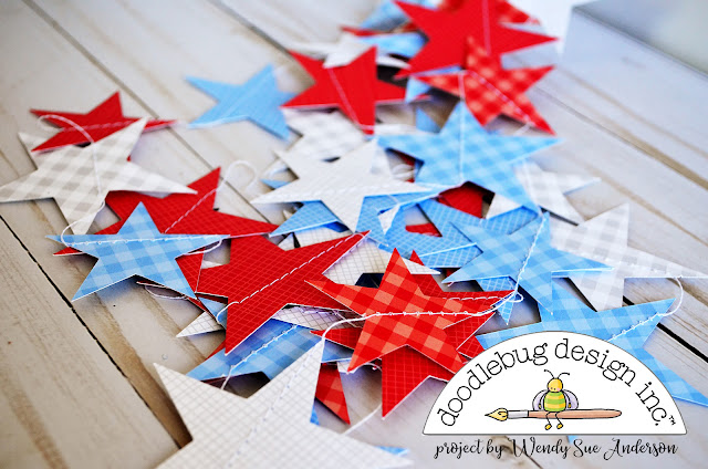 "4th of July ""Pinterest Inspired"" projects by Wendy Sue Anderson for Doodlebug Design"